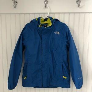 Boys Blue North Face Raincoat